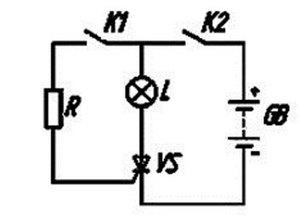 Схема тиристорного ключа
