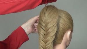 Рыбий хвост на длинные волосы