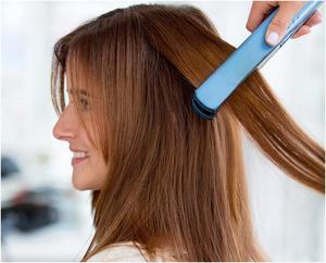 Выпрямить волосы утюгом