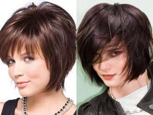 Каскад на короткие волосы