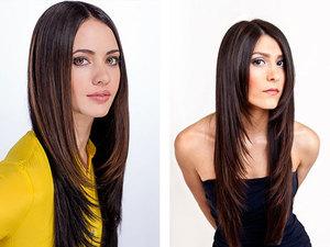 Вариант лесенки на длинные волосы