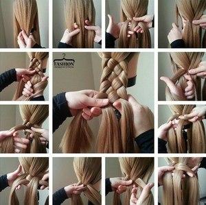 Уроки плетения волос