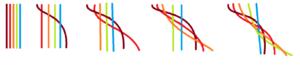 Схема плетения косы из пяти прядей