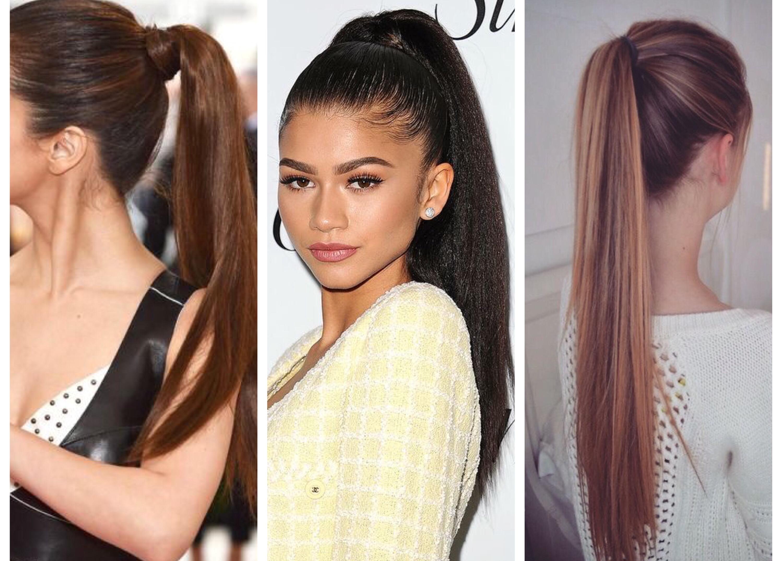 Как сделать хвост из волос фото 348