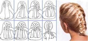 Красивая коса колосок