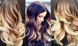Разное брондирование волос