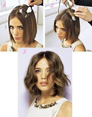 Как уложить короткие волосы