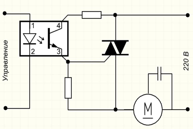 Схемы регулировки оборотов двигателя переменного тока