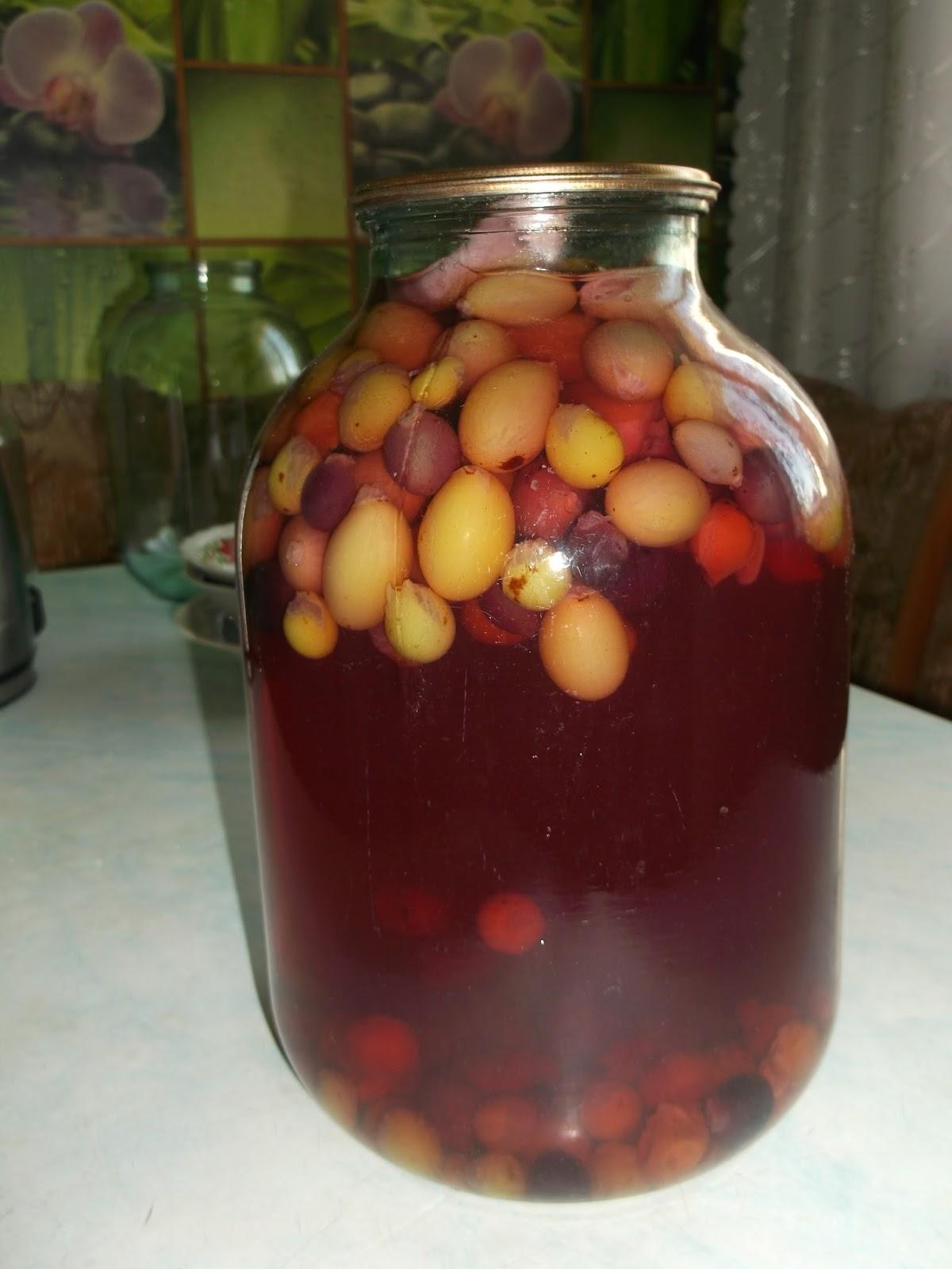 Ниже представлен простой рецепт компота из винограда на зиму, что подойдет для любого сорта и не потребует особых познаний в приготовлении заготовок.